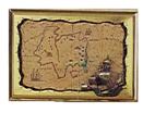 Πίνακας-χάρτης ορειχάλκινο