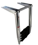 Σκάλα πτυσσόμενη ανοξείδωτη