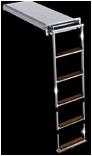 Σκάλα κασσετίνα πτυσσόμενη ανοξείδωτη